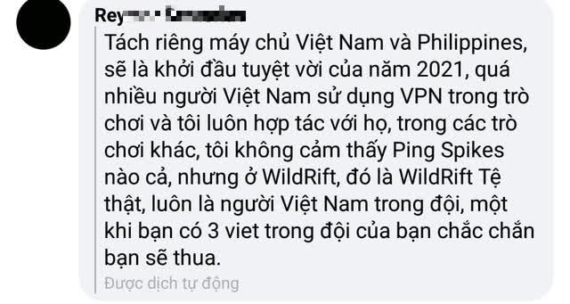 Một game thủ Tốc Chiến Philippines đòi tách người Việt về server riêng, đổ lỗi gặp người Việt là thua? - Ảnh 2.