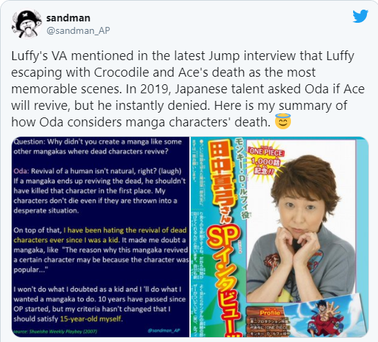 One Piece: Eiichiro Oda không thích hồi sinh những nhân vật đã chết nên các huyền thoại Roger Capture-16103579299241533167416