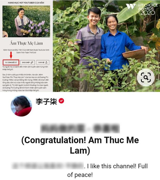 Bỏ qua bà Tân Vlog, hot girl làng YouTube Lý Tử Thất khen ngợi sự bình yên của kênh Ẩm Thực Mẹ Làm - Ảnh 3.