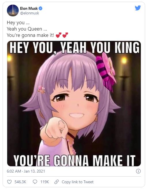 Hơn 119 nghìn bình luận về bức meme anime của vị tỷ phú