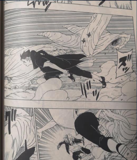 Spoil Boruto chap 54: Borushiki náo loạn buộc Sasuke dùng tới Amaterasu, Naruto bất tỉnh nhân sự - Ảnh 2.