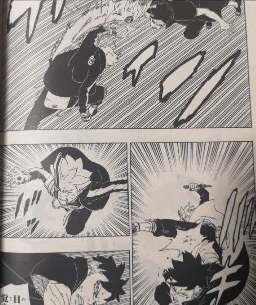 Spoil Boruto chap 54: Borushiki náo loạn buộc Sasuke dùng tới Amaterasu, Naruto bất tỉnh nhân sự - Ảnh 3.