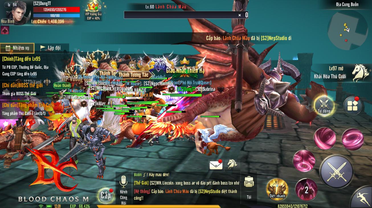 Blood Chaos M đông nghịt ngày ra mắt, bắt buộc tung server mới đặc biệt - Ares để giải tỏa tắc nghẽn, tặng luôn Siêu Pet và Danh Hiệu hiếm - Ảnh 1.