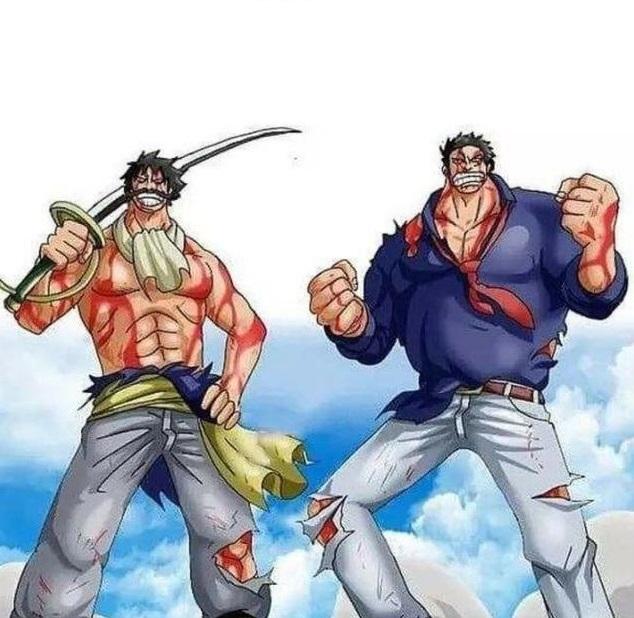 One Piece: Ngắm loạt ảnh hồi trẻ của Anh Hùng Hải Quân Grap lại thấy có nét trẩu giống Luffy - Ảnh 8.