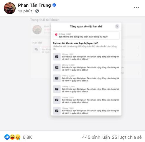 """Facebook Thầy Giáo Ba bất ngờ bị tấn công, bài viết nhắc tên Sena liên tục """"bay màu - Ảnh 2."""