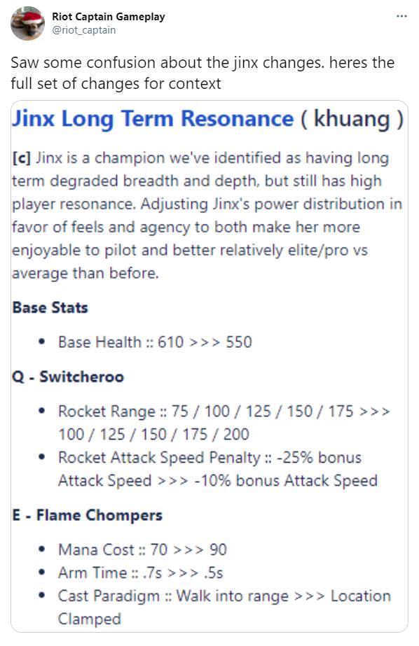 LMHT: Riot Games công bố đợt nâng cấp sức mạnh lớn cho Jinx ngay tại bản 11.3 tới - Ảnh 1.