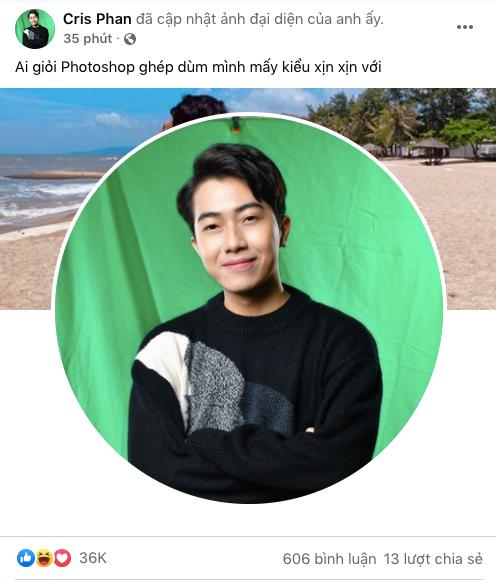 Nhờ cộng đồng mạng photoshop, Cris Phan bị các thánh chỉnh ảnh đến xanh cả mặt, trọc cả tóc - Ảnh 1.