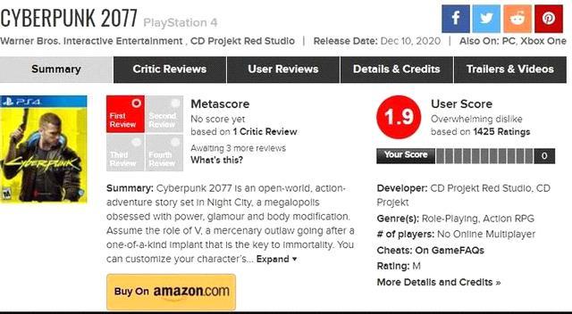 người chơi Cyberpunk 2077 giảm nhanh gấp 3 lần so với The Witcher 3 Photo-1-16099086410982081327921