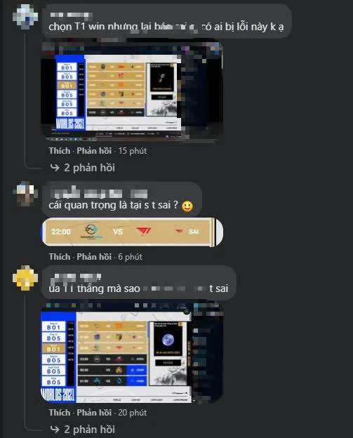 Fanpage LMHT Việt Nam náo loạn vì bị game thủ khiếu nại: Dự đoán T1 thắng nhưng kết quả lại báo Sai - Ảnh 4.