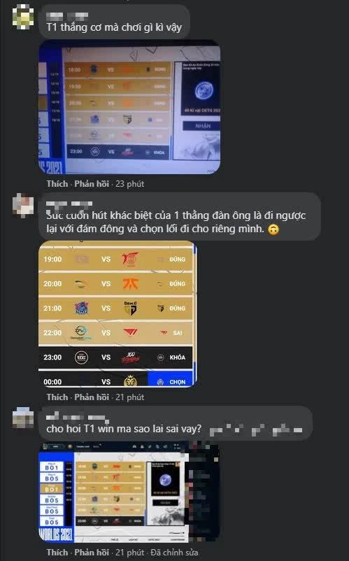 Fanpage LMHT Việt Nam náo loạn vì bị game thủ khiếu nại: Dự đoán T1 thắng nhưng kết quả lại báo Sai - Ảnh 6.