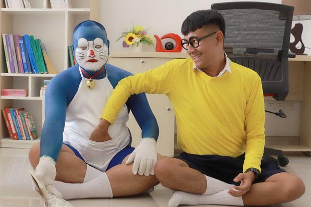 Doraemon phiên bản hàng Việt: Nhìn ngoại hình chuẩn mèo ú nhưng vẫn khiến fan chết tim vì quá lố - Ảnh 1.