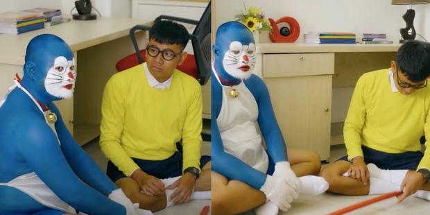 Doraemon phiên bản hàng Việt: Nhìn ngoại hình chuẩn mèo ú nhưng vẫn khiến fan chết tim vì quá lố - Ảnh 2.