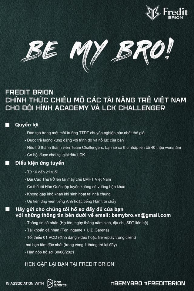 """Lộ diện 7 """"sao mai"""" của LMHT Việt lọt vào mắt xanh của Fredit Brion -16334422445121716276781"""