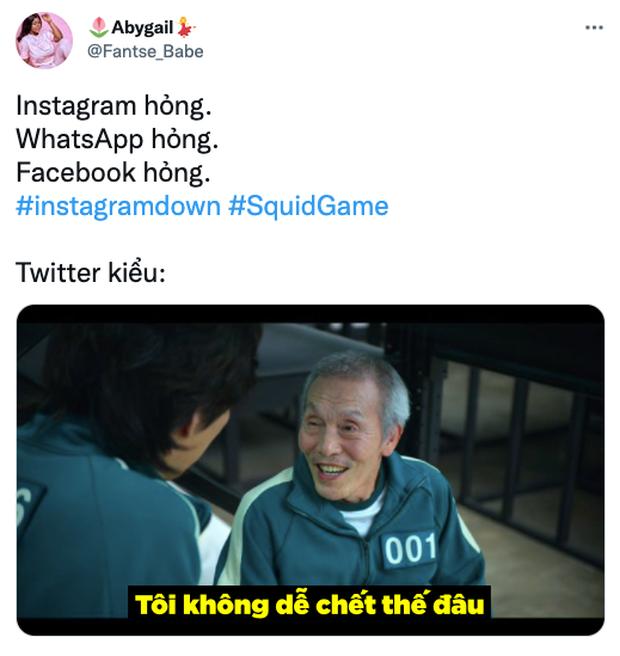 Squid Game bất ngờ trở thành hình ảnh ghê nhất ngày vì Facebook sập: Nhiều hãng lớn, netizen đổ xô vào cà khịa căng đét! - Ảnh 6.