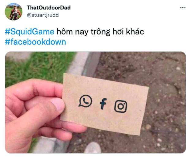 Squid Game bất ngờ trở thành hình ảnh ghê nhất ngày vì Facebook sập: Nhiều hãng lớn, netizen đổ xô vào cà khịa căng đét! - Ảnh 7.