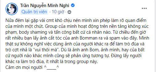 """Nửa đêm, Minh Nghi đăng cảnh báo """"Đừng lấy người khác ra làm trò đùa... nên kiểm soát niềm vui của mình"""" - Ảnh 1."""