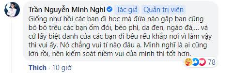 """Nửa đêm, Minh Nghi đăng cảnh báo """"Đừng lấy người khác ra làm trò đùa... nên kiểm soát niềm vui của mình"""" - Ảnh 2."""