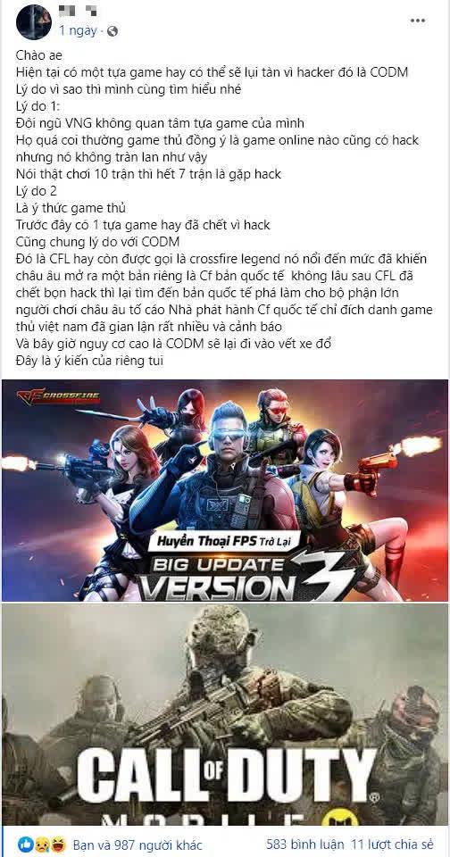 """Game thủ sợ số phận Call of Duty Mobile sẽ giống """"ông tổ game sơn súng"""", bị hack đến mức VNG giương cờ đầu hàng - Ảnh 3."""