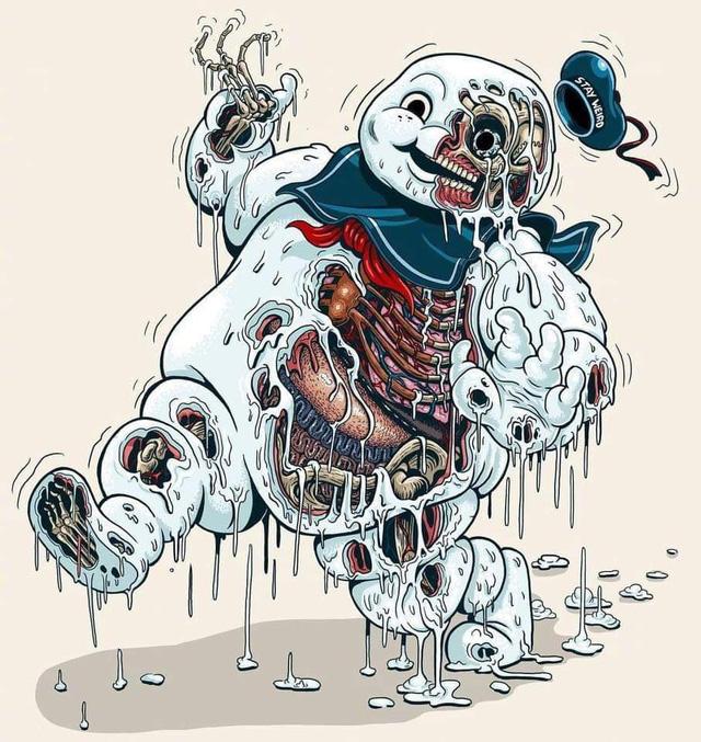 Bộ tranh cắt lớp các nhận vật manga đình đám, Doraemon trông sợ hết hồn - Ảnh 4.