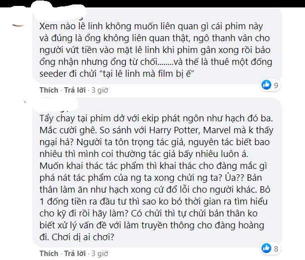 Quản lý cũ của Ngô Thanh Vân bất ngờ chỉ trích tác giả Lê Linh, netizen lại dậy sóng quyết tẩy chay phim 'Trạng Tí' - Ảnh 6.