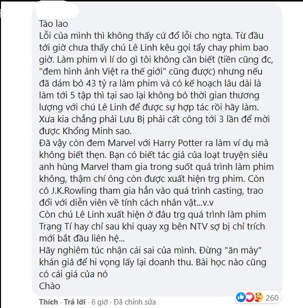 Quản lý cũ của Ngô Thanh Vân bất ngờ chỉ trích tác giả Lê Linh, netizen lại dậy sóng quyết tẩy chay phim 'Trạng Tí' - Ảnh 4.