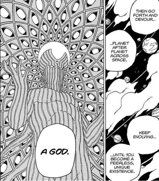 Boruto chương 55 hé lộ tham vọng muốn vươn tới sức mạnh của thần từ gia tộc Otsutsuki - Ảnh 2.
