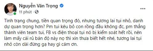 Thầy Ren tiết lộ chuyện được gạ bán độ trắng trợn, 35 triệu 1 con Rồng đầu, hợp tác lâu dài giá cả chục ngàn USD - Ảnh 1.