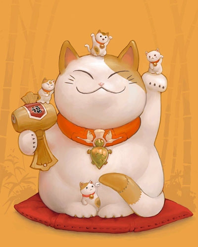 Nguồn gốc của mèo may mắn Maneki Neko - Ảnh 4.