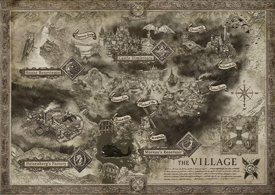 Lộ bản đồ cực kỳ rộng lớn của Resident Evil 8 với rất nhiều ngôi làng, lâu đài bí ẩn - Ảnh 3.