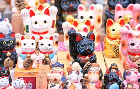 Nguồn gốc của mèo may mắn Maneki Neko - Ảnh 2.