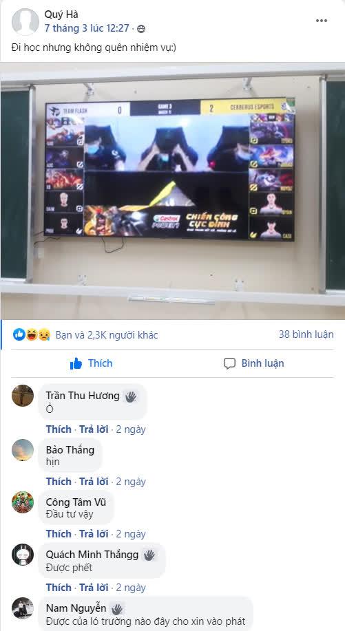 Game thủ Liên Quân đi học được thầy giáo bật ĐTDV cho xem, nhưng nhìn thứ trên TV thì hụt hẫng bất ngờ - Ảnh 2.