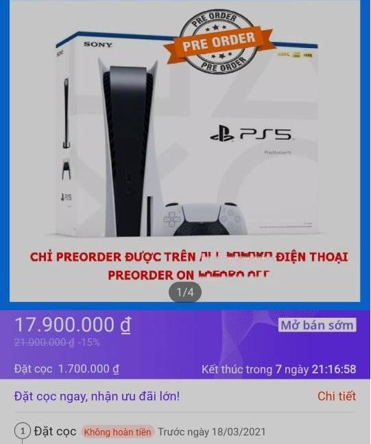 Chưa ra mắt, PS5 Việt Nam đã bị đôn giá chóng mặt - Ảnh 1.