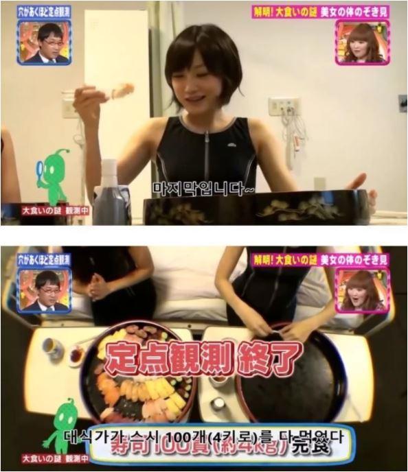 Ăn 100 miếng sushi cùng lúc, nữ YouTuber gây sốc khi công khai luôn ảnh chụp CT dạ dày, chứng minh mình không gian dối - Ảnh 1.