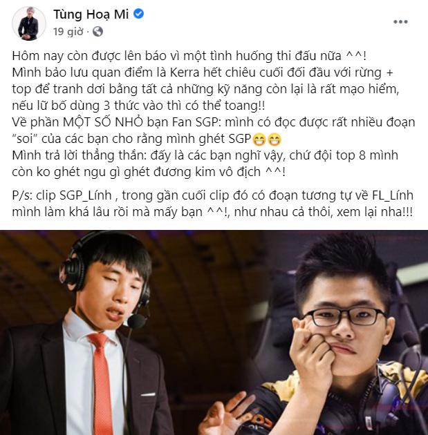 Bị chỉ trích chơi tham, Lai Bâng lên tiếng phản pháo Tùng Họa Mi, quyết tâm bảo vệ fan bằng được - Ảnh 3.