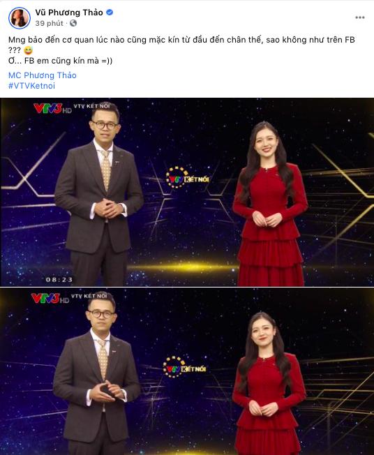 Lên sóng VTV, nữ MC tuyệt sắc ăn mặc trái ngược với hình tượng sexy trên mạng xã hội khiến đồng nghiệp khó hiểu - Ảnh 4.
