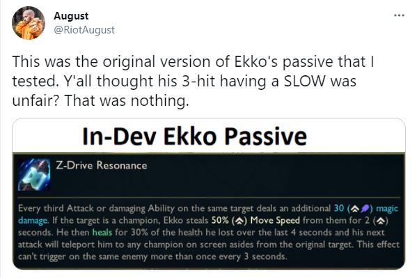 LMHT: Riot hé lộ Yasuo từng có thể xóa sổ Shaco khỏi ván đấu, Ekko suýt thì sở hữu nội tại phá game - Ảnh 4.