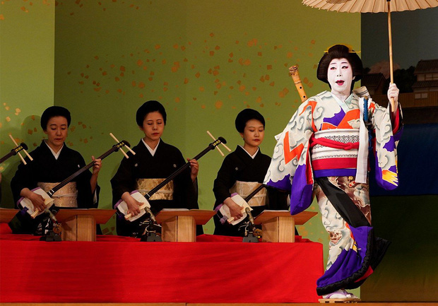 Mỗi geisha nữ đều là một nghệ nhân đàn tam Nhật Bản xuất chúng