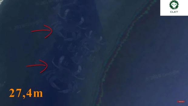 Những thuỷ quái khổng lồ vô tình được Google Earth ghi lại - Ảnh 3.