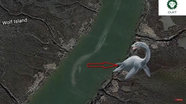 Những thuỷ quái khổng lồ vô tình được Google Earth ghi lại - Ảnh 4.
