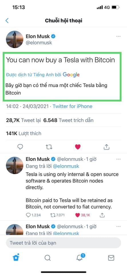 Elon Musk viết 8 chữ, Bitcoin lập tức quay đầu tăng điểm thần kỳ - Ảnh 2.