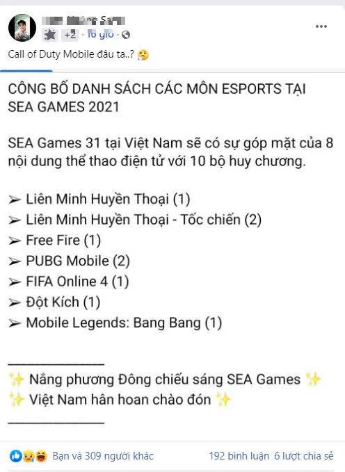 """Nhìn danh sách bộ môn SEA Games, người chơi """"dead game"""" của VNG hậm hực tại sao không có chúng tôi? - Ảnh 2."""