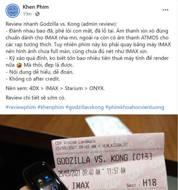 Godzilla Đại Chiến Kong công phá phòng chiếu tại Việt Nam, lập kỷ lục phim có doanh thu suất chiếu sớm cao nhất năm 2021 - Ảnh 7.