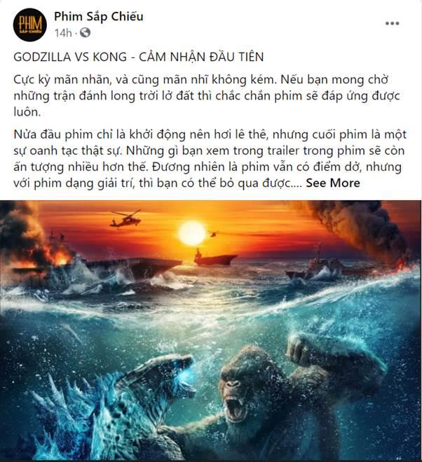 Godzilla Đại Chiến Kong công phá phòng chiếu tại Việt Nam, lập kỷ lục phim có doanh thu suất chiếu sớm cao nhất năm 2021 - Ảnh 4.