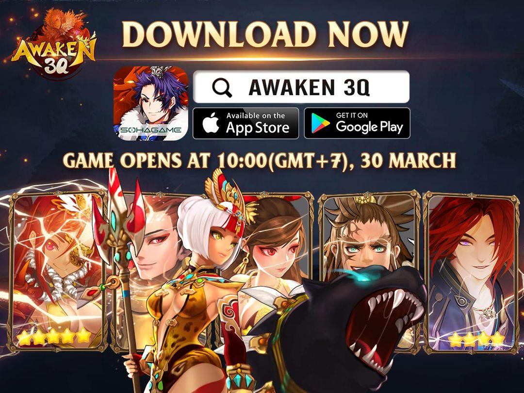 Game thủ đã có thể tải về Awaken 3Q - Game chiến thuật Tam Quốc phát hành Global, phong cách Hàn / Nhật cực hack não - Ảnh 1.