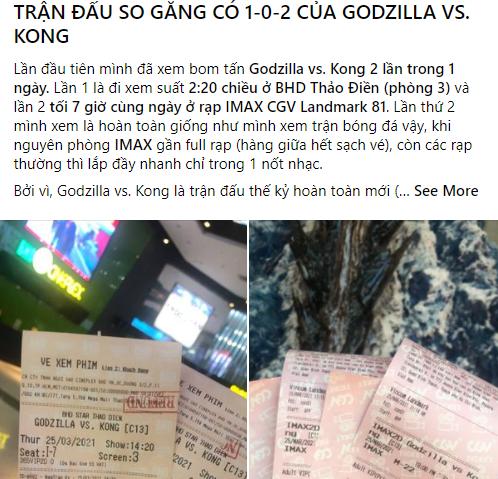 Godzilla Đại Chiến Kong nhận cơn mưa lời khen và chế ảnh khắp MXH, cán mốc một triệu lượt khán giả ra rạp - Ảnh 4.