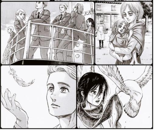 Các fan Attack On Titan cho rằng Mikasa bên cạnh con chim lớn chỉ khiến cô thêm nhớ Eren mà thôi - Ảnh 1.