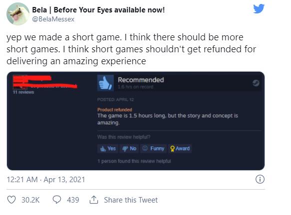 Phá đảo, khen game hay nhưng vẫn... yêu cầu hoàn tiền, game thủ bị nhà phát triển cà khịa - Ảnh 2.