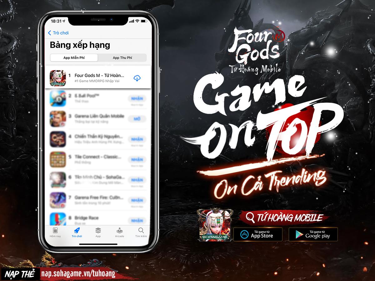 Bom tấn có khác! Tứ Hoàng Mobile độc chiếm TOP 1 App Store, hàng loạt đối thủ sừng sỏ phải ngậm ngùi... hít khói - Ảnh 1.