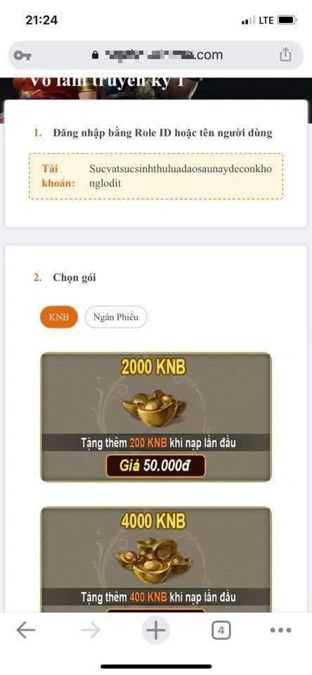 Phân phối trực tiếp x100 lần, game thủ VLTK 1 Mobile trả giá đắt vì chiêu lừa đảo cũ rích vì quá ngây thơ - Ảnh 2.