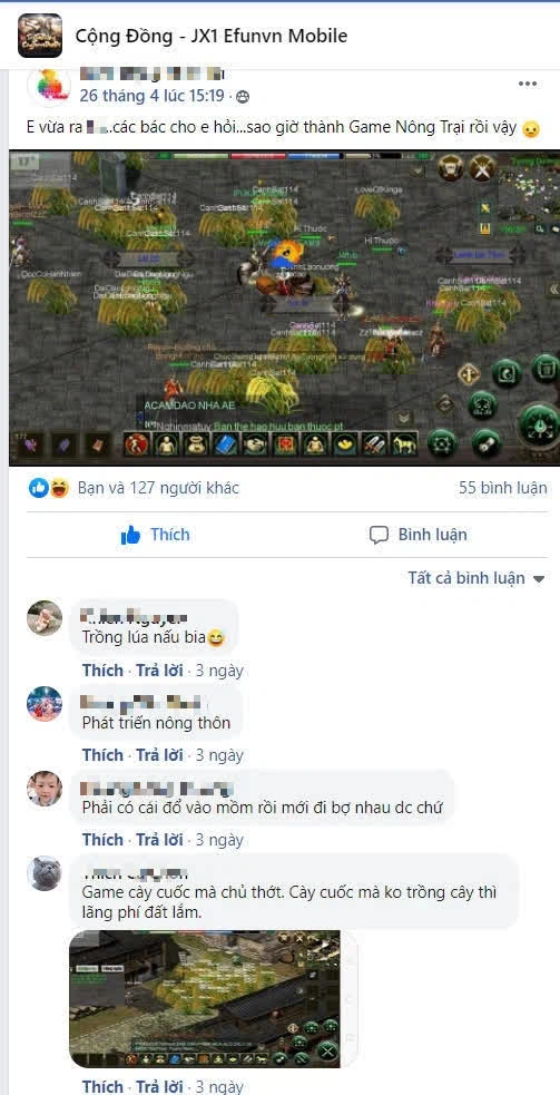 Game thủ Jx1 EfunVN Huyền Thoại Võ Lâm khẳng định đây là game cày cuốc, tất cả người chơi trở thành dân cày - Ảnh 7.